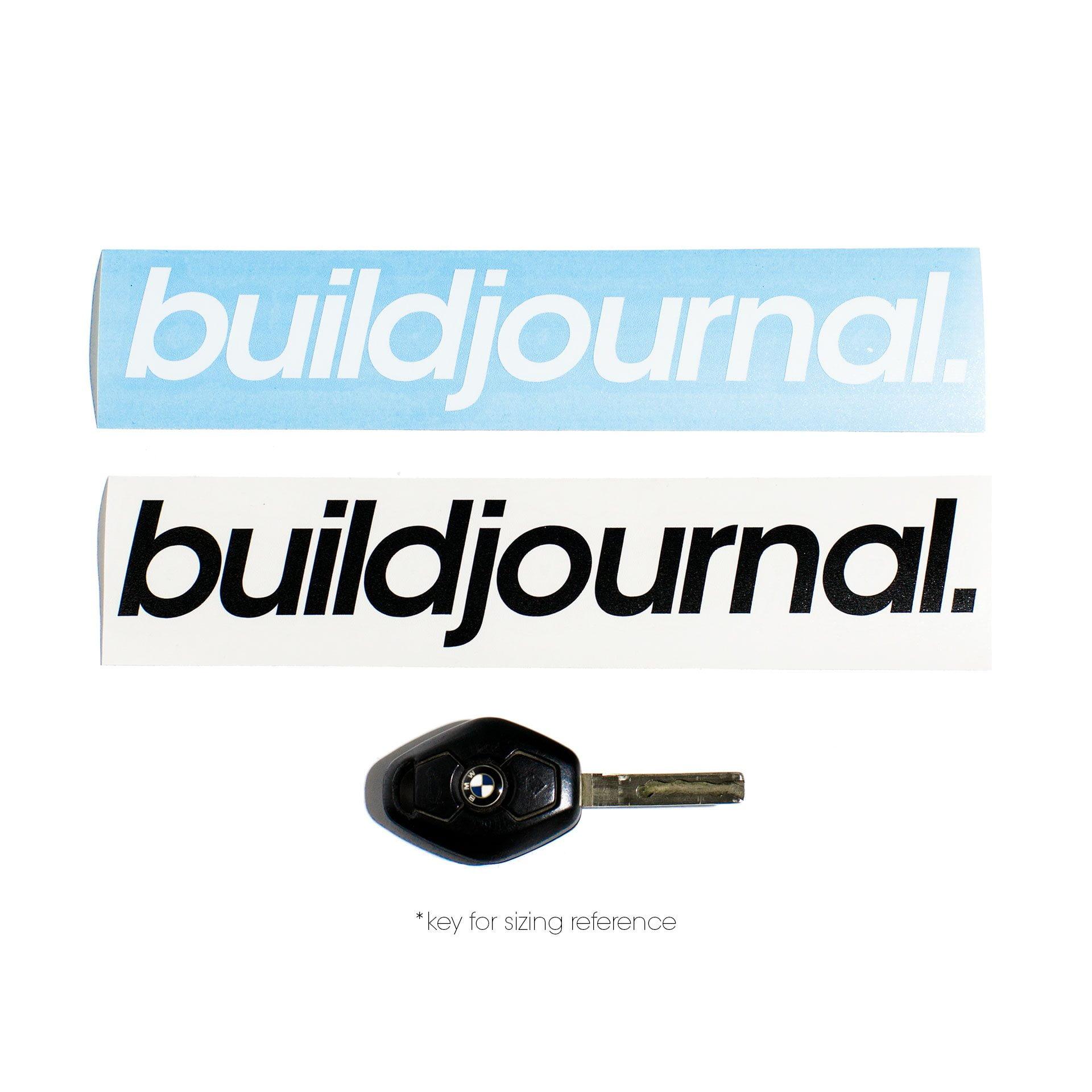 "Buildjournal 8.5"" Die Cut Sticker"