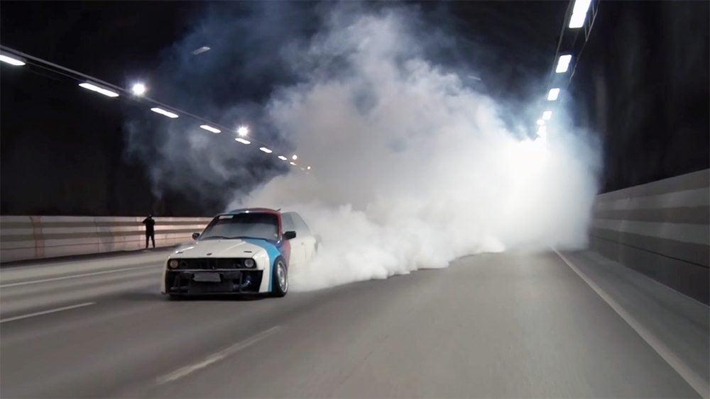 E30 M3 Burnout