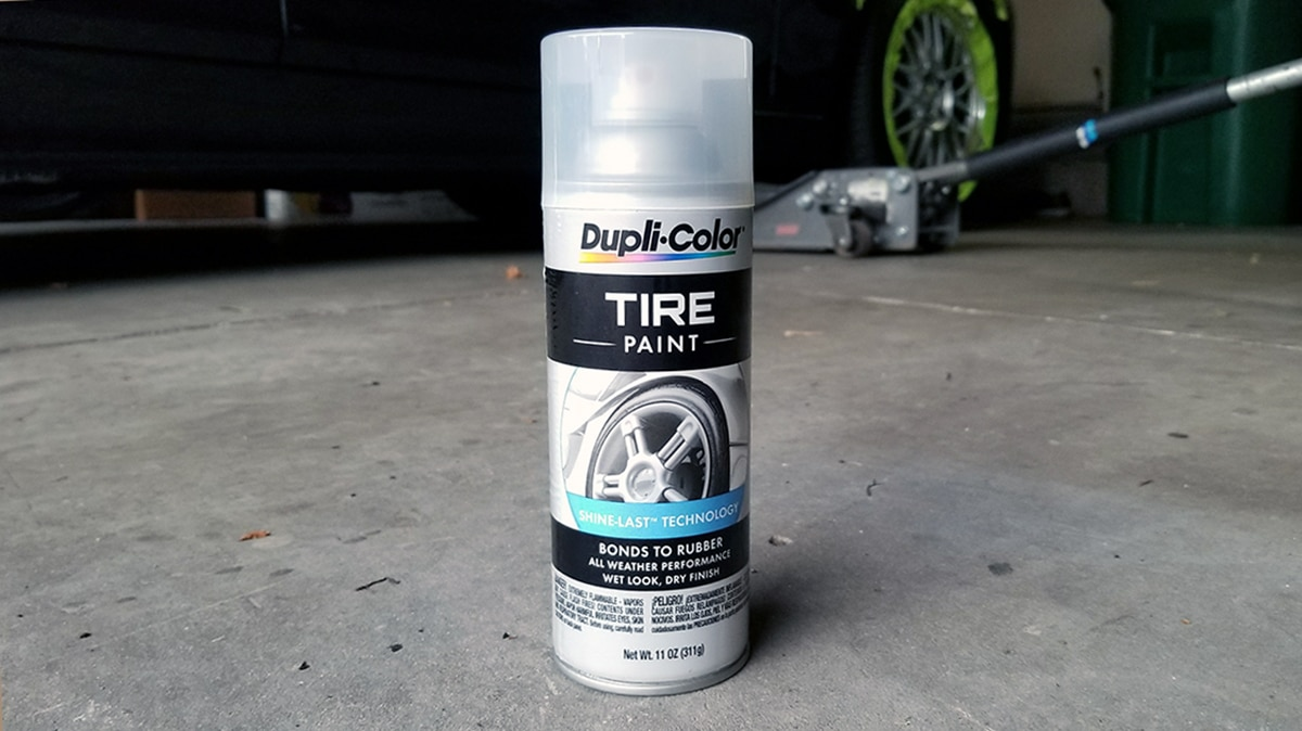 Duplicolor Tire Paint - Permanent Tire Shine