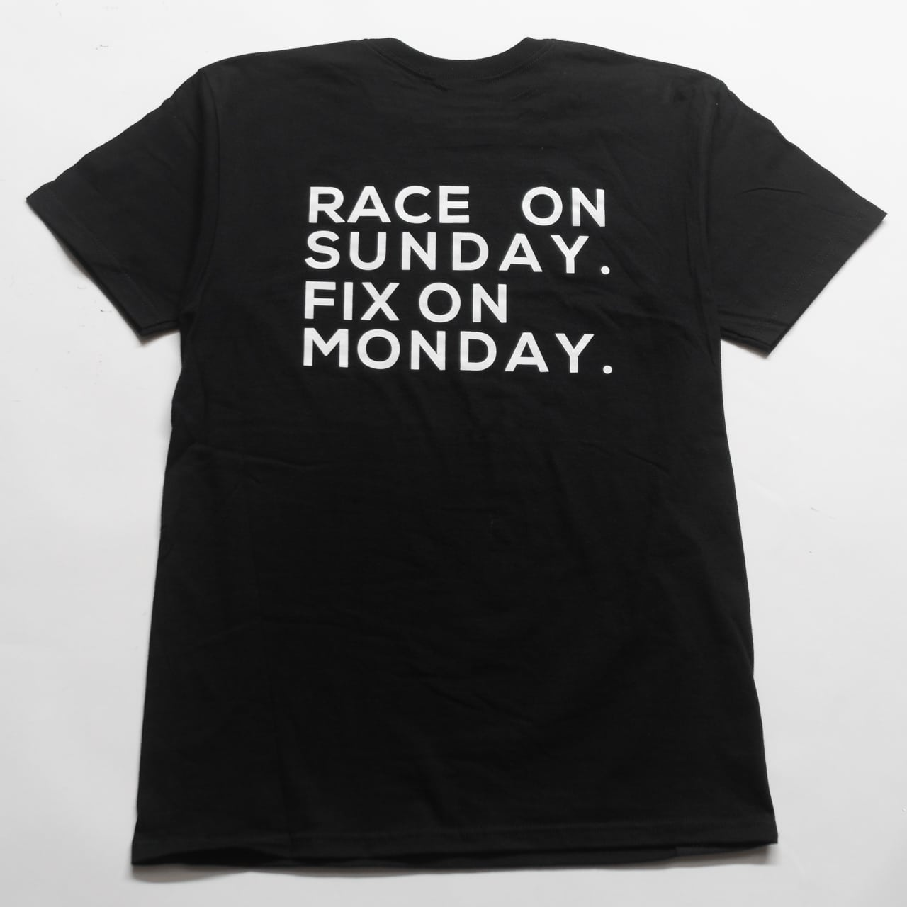Race on Sunday Tee Shirt - Buildjournal