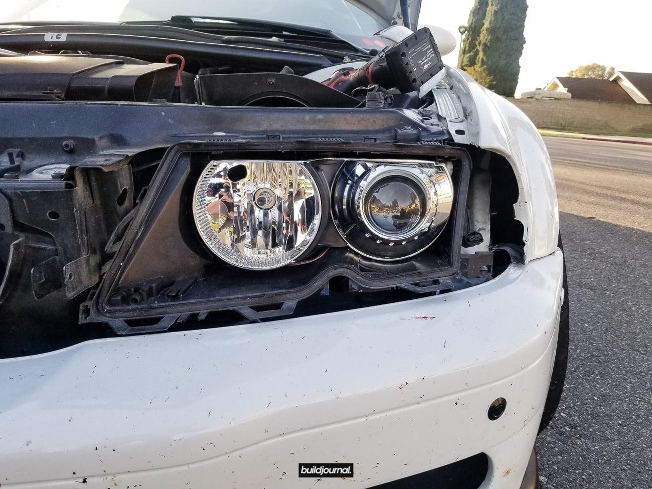 PSDesigns E46 M3 Headlight Duct Install DIY • Buildjournal