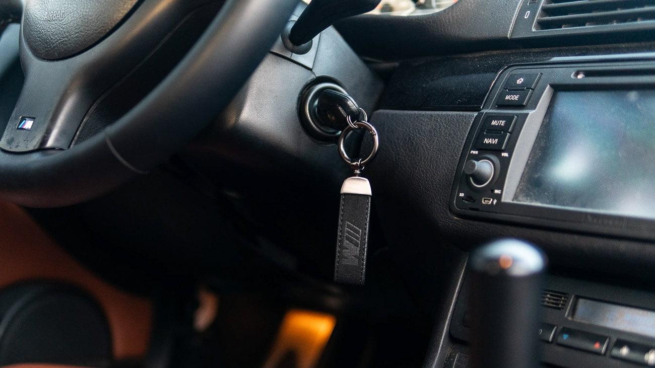 BMW M Suede Keychain
