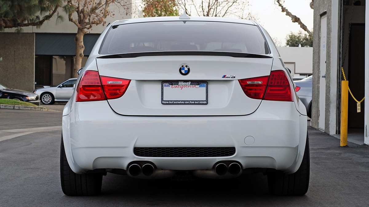 BMW E90 M3 BMW M Performance Style Carbon Fiber Trunk Lip